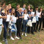Businessplan-Präsentation an der Katholischen Schule Salvator in Berlin